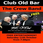 The Crew – Free Entertainment Saturday 11th October