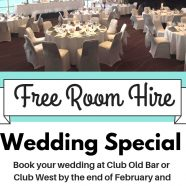 FREE ROOM HIRE FOR WEDDINGS